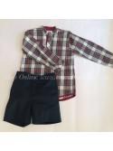 Conjunto de pantalón niño de Pilar Batanero cuadros