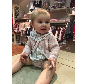 Conjunto bebé niña de Eve Children estampado rosa