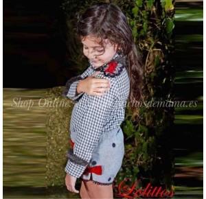 Camisa y short niña Copos de Lolittos