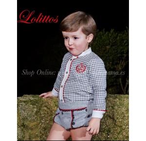 Conjunto bombacho bebé niño Copos de Lolittos