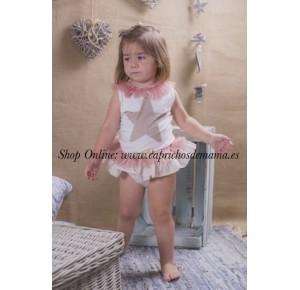 Camiseta y braguita niña de Mon Petit Bonbon