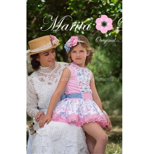 Vestido niña de Marita Rial talle bajo estampado  9de43711ce9