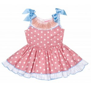 Vestido niña de Nini rosa de lunares
