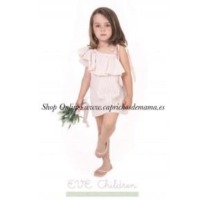 Vestido niña de Eve Children corte asimétrico rayas
