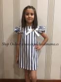 Vestido niña de Eve Children evasé rayas