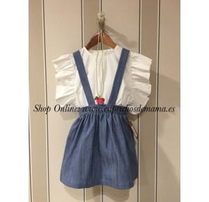 Camisa y Falda niña de Mía y Lía vaquera