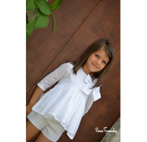 Blusón y short niña Oriana de Noma Fernández