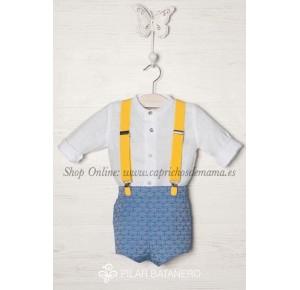 Camisa y pantalón niño de Pilar Batanero anclas