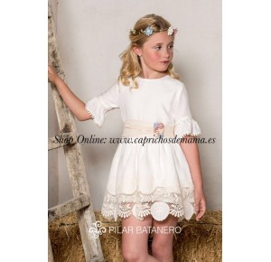Vestido niña de Pilar Batanero ceremonia