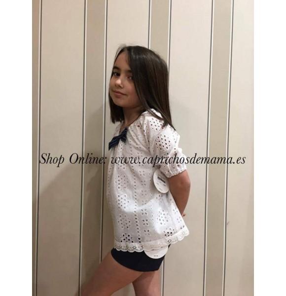 Blusón y short niña de Mon Petit perforado