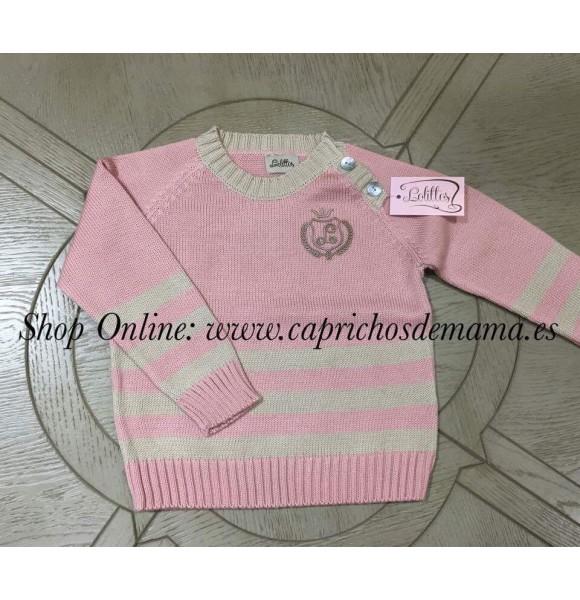 Jersey niño París de Lolittos rosa y crudo
