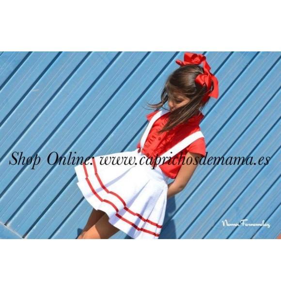 Blusa y falda niña Grosella de Noma Fernández