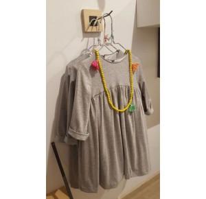 Vestido niña algodón de Mía y Lía gris