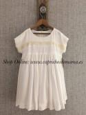 Vestido niña de Mía y Lía bambula blanco