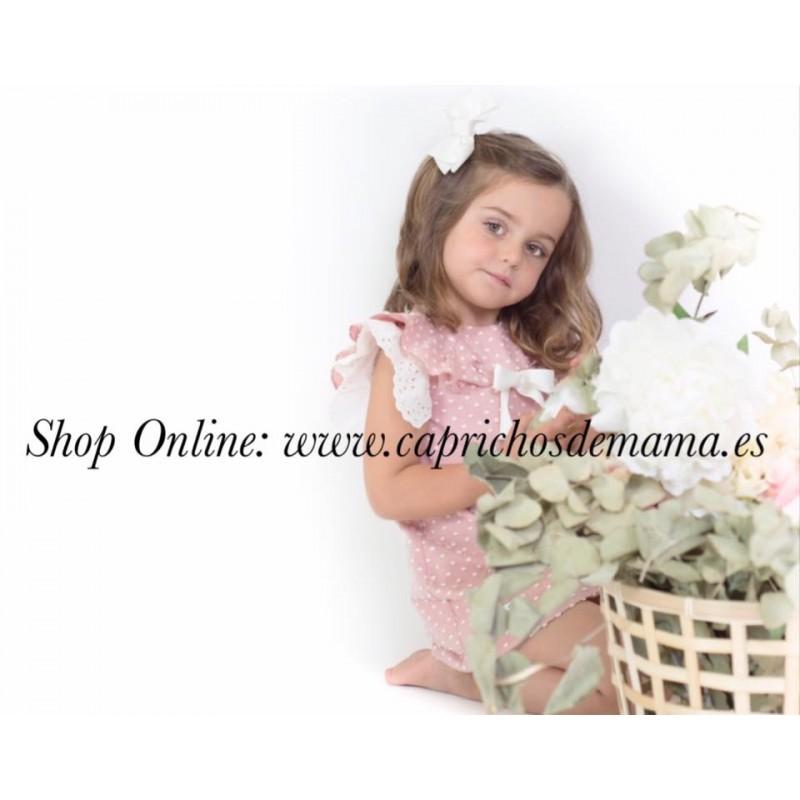 0399dd839 Vestido niña de Eve Children plumeti rosa empolvado ...