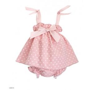 Jesusito bebé niña Eve Children plumeti rosa empolvado