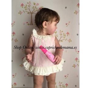 Jesutito bebé niña de Nini rosa y crudo