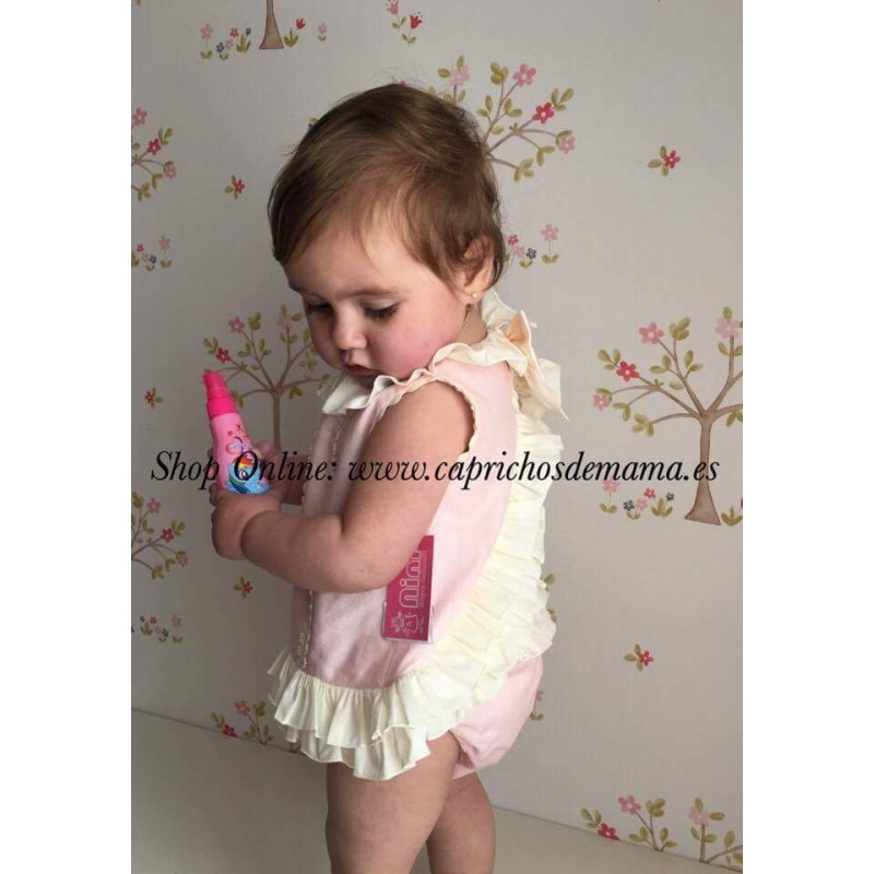 c5e5095914a ... Jesutito bebé niña de Nini rosa y crudo ...