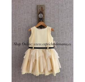 Vestido niña Mariposa de Kauli falda de tul