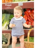 Conjunto bebé niño de Foque vichy azulón