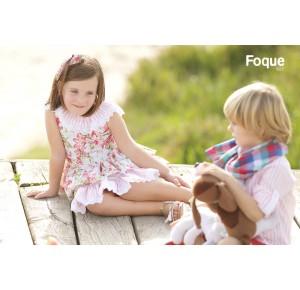 Vestido niña de Foque estampado