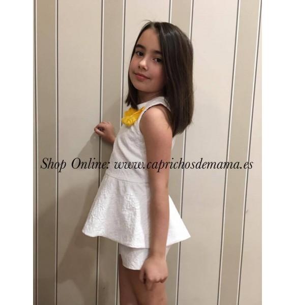 Blusón y short niña Narciso de Noma Fernández brocado