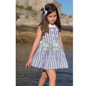 Vestido niña Mimosa de Badum Badero marinero