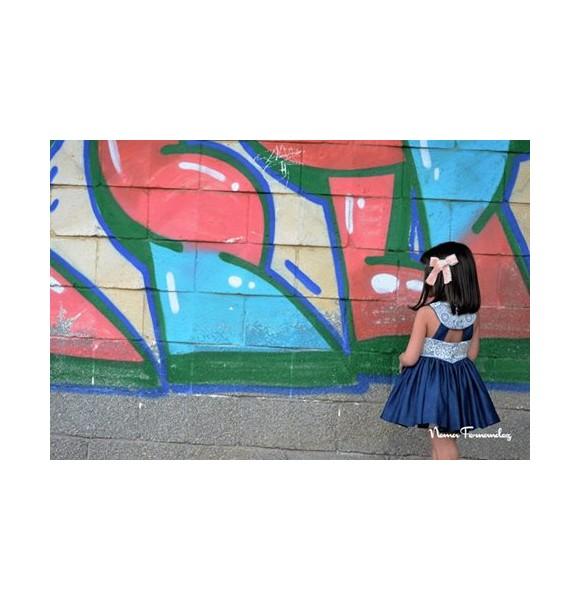 Vestido niña Anne de Noma Fernández vaquero
