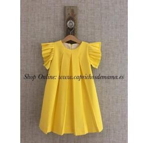 Vestido niña de Mía y Lía amarillo