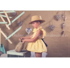 Vestido niña Mon Petit rayas amarillas
