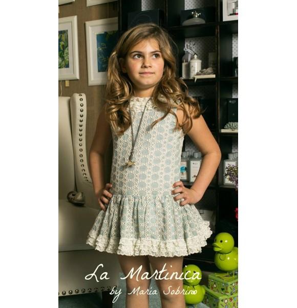 Vestido niña Vainilla de La Martinica talle bajo