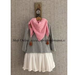 Vestido niña de Mía y Lía talle bajo algodón