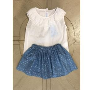 Blusa y falda niña de Foque denim estrellas