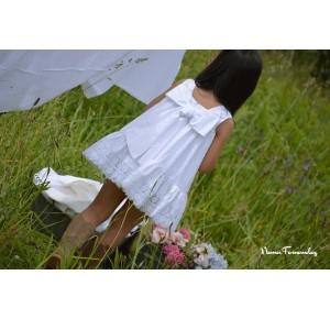 Vestido niña Lencero de Noma Fernández blanco