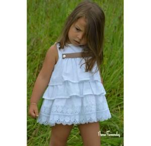 Jusito niña Lencero de Noma Fernández plumeti blanco