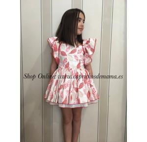 Vestido niña Álamo de Badum Badero rojo