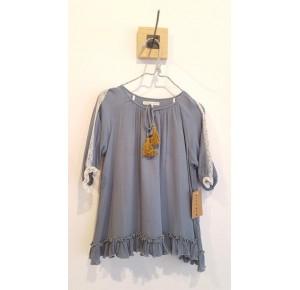 Vestido niña de Mía y Lía bambula azul