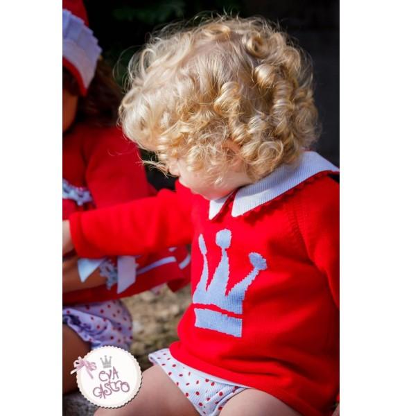Conjunto bombacho niño Alice de Eva Castro rojo