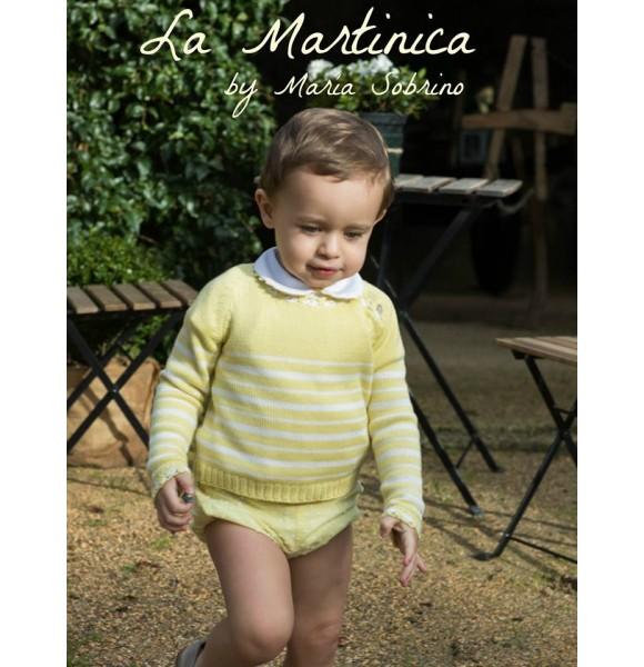 Conjunto niño Champán de La Martinica plumeti amarillo