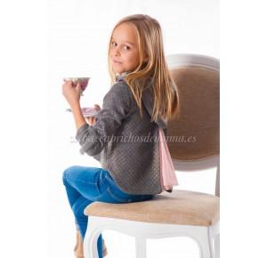 Sudadera para niña Young and Chic de Kauli gris