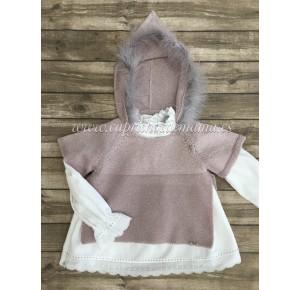 Blusón y jersey niña Niebla de Kauli lurex rosa