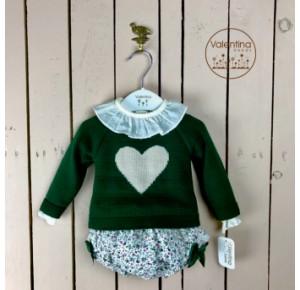 Conjunto bebé niña Valentina Bebés liberty verde