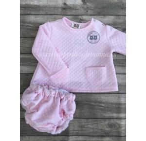 Conjunto bebé niña Sugar de Badum Badero rosa