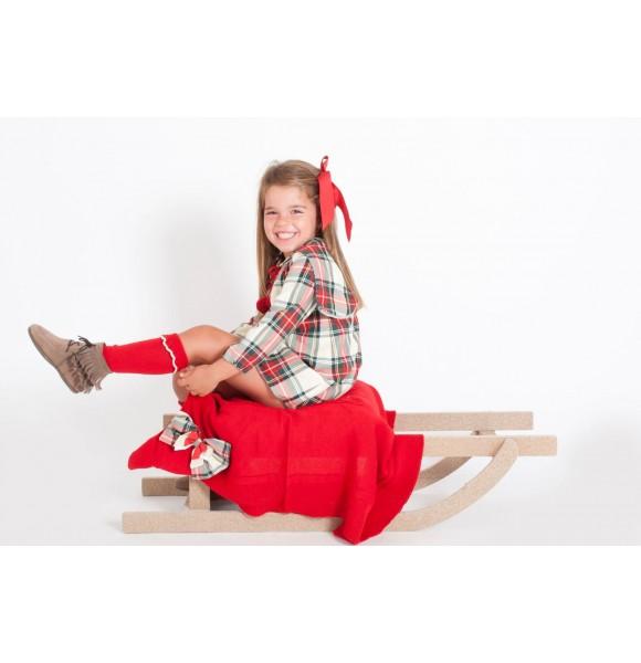 Vestido niña Escocés de Kauli con capucha