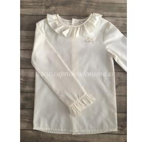 Camisa niña de Badum Badero beige