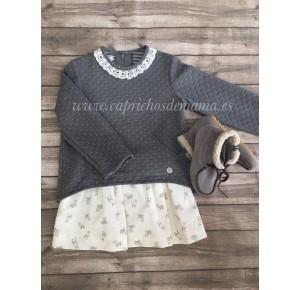 Conjunto falda niña de Foque conejitos