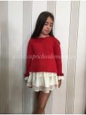 Conjunto falda niña Caperucita de Lolittos rojo