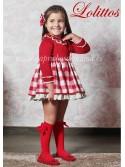 Vestido niña Caperucita de Lolittos punto rojo