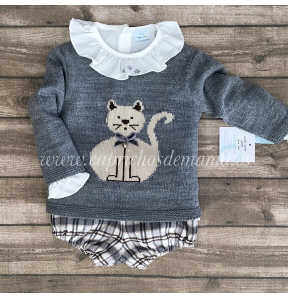 Conjunto bebé unisex de Paloma de la O gatito