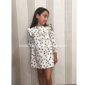 Vestido niña de Eve Children volante estrellas